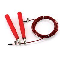 Einstellbare Original Ultra Speed Stahldraht Skipping Skip Jump Cross fit Seilspringen Seile