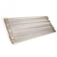20PCS / set 15cm Portachiavi per cavo portachiavi in filo di acciaio inossidabile per caccia di campeggio