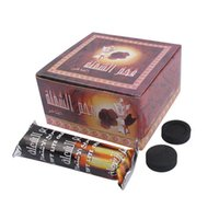 100 pezzi 33 mm Diametro Rotondo Quick-light Scentless Smokeless Coconut Narghilè Shisha Incenso Carboncino