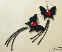 무료 배송 패션 만화 지옥 나비 귀걸이 펜던트 수제 원래 술 나비 귀걸이 패션 귀걸이 클래식 exquisit