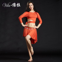 Women Girls Belly Dance Practice Wear Tops & Hip Skirt Training Clothing Performance Wear Yoga Suit Wear Costume