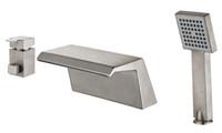 세라믹 밸브 뜨거운 판매 니켈 마침 3 개 5 년 보증과 함께 욕실 욕조 수도꼭지 폭포 TubTap