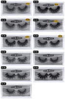 Pestañas de visón 3D Maquillaje de piel falsa Pestañas para ojos 100% Visón real Pestañas postizas falsas gruesas naturales Extensión de maquillaje Herramientas de belleza