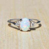 Klauw ingelegd cz vrouwen ring belofte sieraden kubieke zirkoon opaal vinger ringen dames elegante aangrijping bruiloft Valentijnsdag geschenk