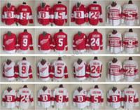 13 Pavel Datsyuk Jersey Homens Detroit Asas Vermelhas 9 Gordie Howe 5 Nicklas Lidstrom 24 Chris Chelios Vintage Clássico 75º Vermelho Branco