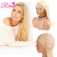 Rcmei 머리 브라질 인간의 머리 전체 레이스가 발 10-24 인치 금발 613 컬러 스트레이트 머리 전체 레이스가 발 자연 제목으로