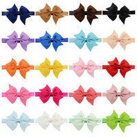"4"" Baby Infant big Bow Headbands Grosgrain Ribbon Bouti..."