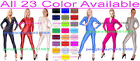 Sexy 23 colori Lycra Spandex Catsuit Costumi Unisex Tuta Costumi Sexy Body Suit Costumi Made Front Zipper Halloween Cosplay Suit P149