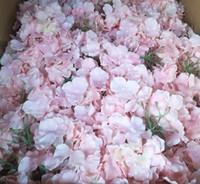 30 piezas 18 cm cabeza de flor de hortensia artificial Festival de bodas Fondo de fiesta de celebración Carretera Led Flor DIY Flor decorativa