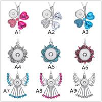 26 estilo noosa pedaços gengibre snap botão jóias asas de um anjo charme 18mm snap botão colar chave para as mulheres