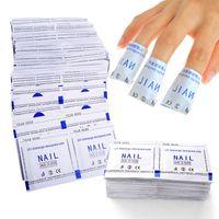 Nagellack-Entferner-Folien-Verpackungen stellten Gel-Polnisch-Azeton-Auflage-Folien-Nagel-Kunst-Reiniger 200pcs / pack ein