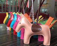 BagCar Pendant High-end Moda feminina bonito Chains Handmade PU Handbag chave Tassel Rodeo cavalo encanto do saco
