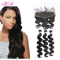 BD Hair Malaysian Body Wave Human Hair With 13*4 Lace Fronta...