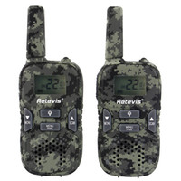 KIDS Retevis RT33 Walkie Talkie Radio portatile palmare Camouflage Wireless Walkie Talkie GMRS / PMR LED luce portatile