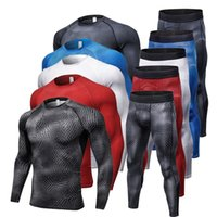 Men Quickly Dry Compression Tracksuit Fitness Tight Running ...