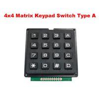 2 PCS 4x4 Matrix Teclado Interruptor 16 Chave MCU Arduino Teclado Externo Push-chave Interruptor Para Programador Elétrico Fabricação