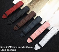 silicone nouvelle en cuir coloré bracelet pour les accessoires femmes et sangle montre 15 * 21mm logo boucle de ceinture 18mm