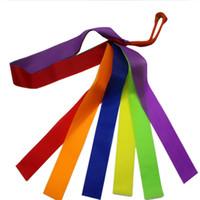 Детские игрушки ленты гимнастика танец ленты танцор игры на открытом воздухе упражнения красочные ленты игрушки для дубинки вертя гимнастические