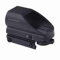 Новая 4 сетки Тактический рефлекс красный / зеленый лазерный голографический проецированный прогноз точечный прицел Airgun винтовка винтовки охотничьи железнодорожные монтажные 20 мм