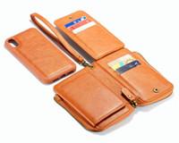 De lujo elegante llano teléfono billetera de cuero caja de costura artesanal desmontable para la GALAXIA S8, S8 Plus, S9 para el iPhone XR caja del teléfono de XS
