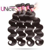 UNice Hair Malaysian Body Wave 4 Bundles 100% Human Hair Ext...