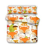 3D Art Prints Kids Bedding Sets Cartoon Fox 3pcs Children Du...