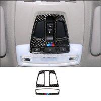 Karbon Fiber Araba İç Ön Okuma Işık Lambası Çerçeve Kapak Trim Için BMW 1 2 3 4 Serisi 3GT X1 X5 X6 F20 F30 F31 F32 F34 F36 Araba-Styling