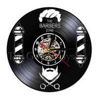 1 pezzo Barber Shop Wall Vinyl Record Clock Silent Movement Hair Beauty Salon Parrucchiere Hairstylist Room Decor Wall Art Clock