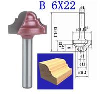 1 PZ B 6 * 22mm (Gambo * Larghezza Lama) 3D Lace Lavorazione Del Legno CNC Incisione Macchina di Fresatura, Legno Cutter Router Bit Coltelli