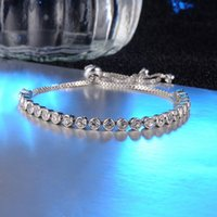 High Quality White Gold Plated AAA+ CZ Cubic Bracelet for Gi...