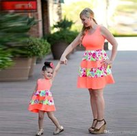 2017 New Fashion Family Set Above Knee Mother Daughter Dress...