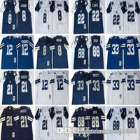 men Dallas Cowboys  8 Troy Aikman 21 Deion Sanders 12 Roger Staubach 22  Emmitt Smith 33 Tony Dorsett 88 Michael Irvin Football Jerseys ac8336175
