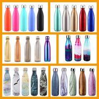 17 Unzen 500ML Doppelwand-Vakuum-isolierter Edelstahl Trinkflasche für Outdoor Sport Klettern Camping Wandern Radfahren