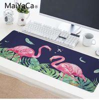 مايياكا الاستوائية ورقة خضراء فلامنغو الوردي ماوس الوسادة 900x400x2 ملليمتر الوسادة ل ماوس الكمبيوتر الدفتري mousepad hd طباعة لوحة الألعاب