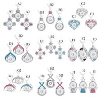 Noosa Lots 27 Styles Crytal Cross Heart Charms DIY 18mm Snap...