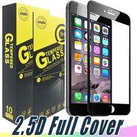 풀 커버 컬러 강화 유리 화면 보호기 9H 2.5D 아이폰 11 프로 최대 XR XS 최대 7 6 8 Plus J3 J7 Prime Aristo 2 K20 Stylo 4 G5 G6