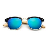نظارات خشبية للعدسات النساء أزياء العلامة التجارية UV400 مرآة الخيزران نظارات للرجال 2018 وصول جديدة