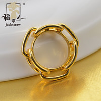 2018 mais novo estilo cooper materiais de proteção ambiental 3 H lenço anel clipe de jóias Sem gancho de seda