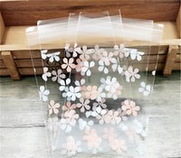 100pcs pink white Cherry blossoms Cookie Packing Bags self a...