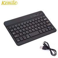 Tastiera Kemile Ultra Slim portatile in alluminio senza fili Bluetooth con porta di ricarica micro per Dell Venue 8 pro Tablet da 8 pollici