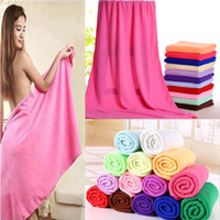 Bath Towel Absorbent Microfiber Hair Drying Bath Beach Towel...