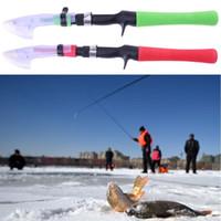 1.2m Mini Ultraleicht Portable Teleskop Eis Angelruten Leistungsstarke Outdoor Winter Eis Casting Fisch Boot Rod für Kinder Erwachsene