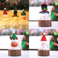 Рождественский орнамент лампа частицы пены рождественские шары огни мультфильм создание Санта-Клаус снеговик рождественская елка украшения