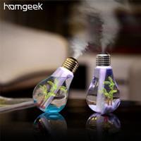Homgeek 400 мл Красочный Пейзаж Лампа Увлажнитель СВЕТОДИОДНАЯ Ночная Лампа USB Mini Micro Spray Увлажняющий Ультразвуковой Создатель Тумана Для Дома