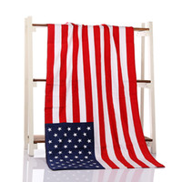 2018 creative USA UK flag Beach Towel 100% Cotton soft Bath ...