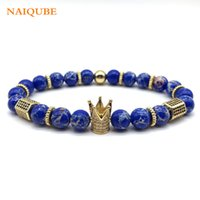NAIQUBE 2018 Hot Fashion Luxury Cube Charm Crown Bracelet Me...