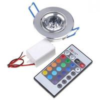 6pcs LED Lampadine Lampada 3W RGB 16 colori Spot Light AC85-265V + IR Remote Control RGB LED da incasso a soffitto