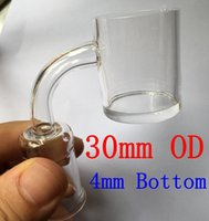 30mm XXL Flat Top Quartz Banger Nail with 4mm Thick Bottom 2...