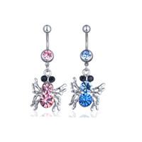 D0289-1 (3 couleurs) Couleur Clear Color Nice Belly Bague Style d'araignée avec une bijou de corps perçant