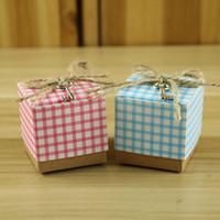 Confezione regalo bomboniera cravatta a strisce contenitore di caramelle creativo scatole di carta da regalo avvolte borse anniversario festa di compleanno regalo di natale dhl libero WX9-1047